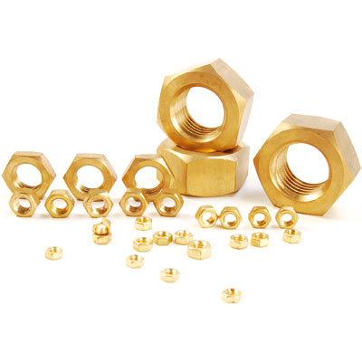 BRASS HEXAGON NUTS